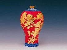 红官窑花瓶瓷