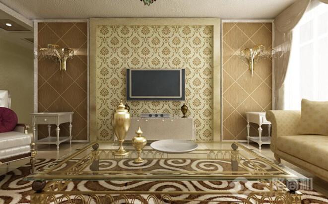 啄木鸟3D彩粒漆室内效果图