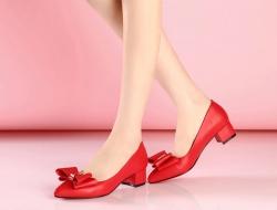 卓詩尼大紅女婚鞋