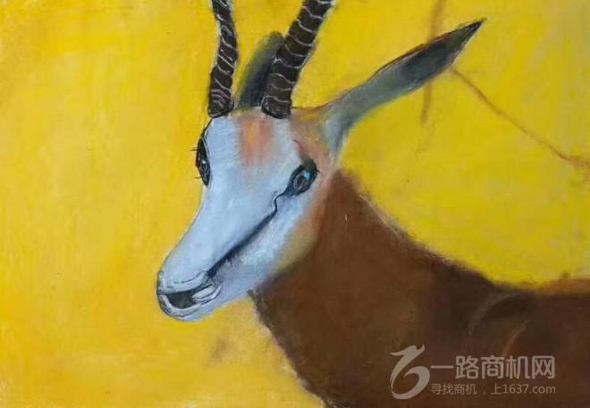 彩色斑馬兒童美術